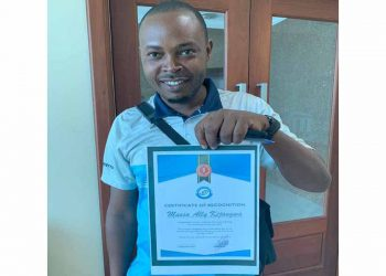Mussa A. Kijangwa has been awarded the 2019 best sales man of year award