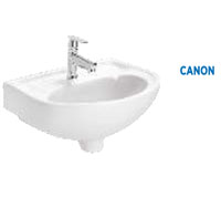Wall hung wash basin without pedestal (450X350mm)